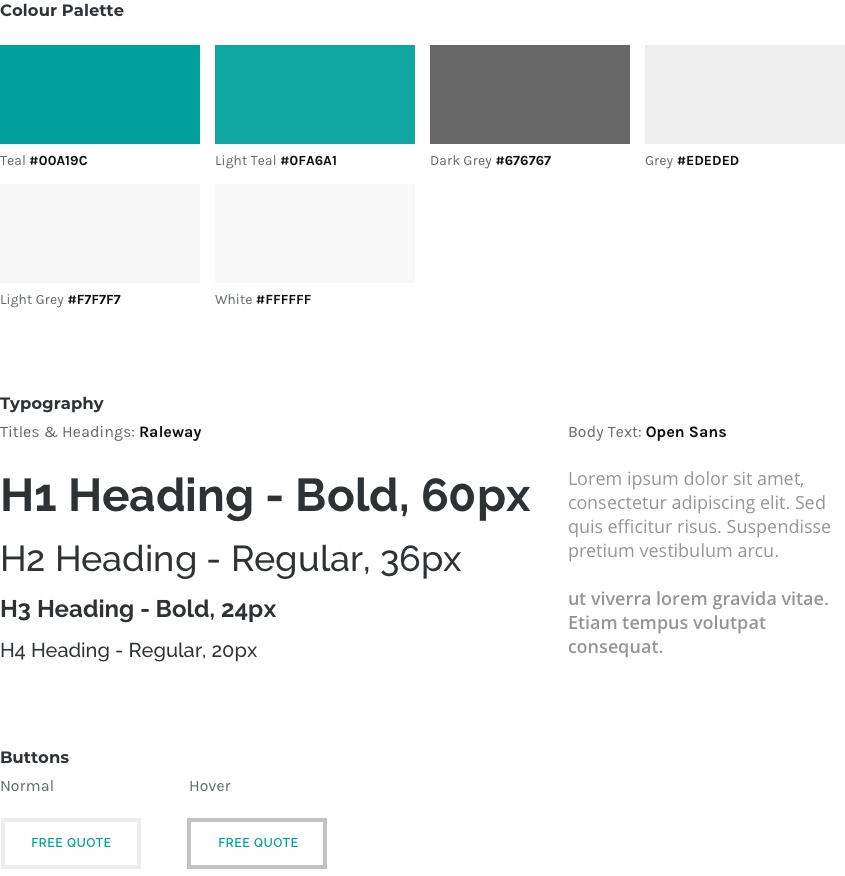 Web UI Style Guide - Alto Print