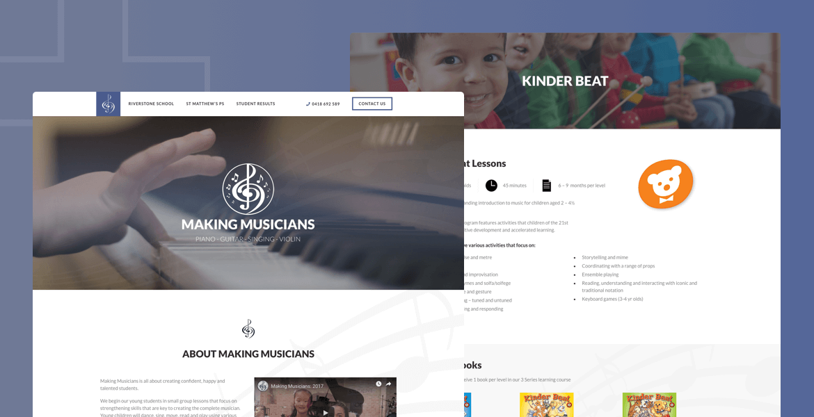 website design Parramatta Musicians