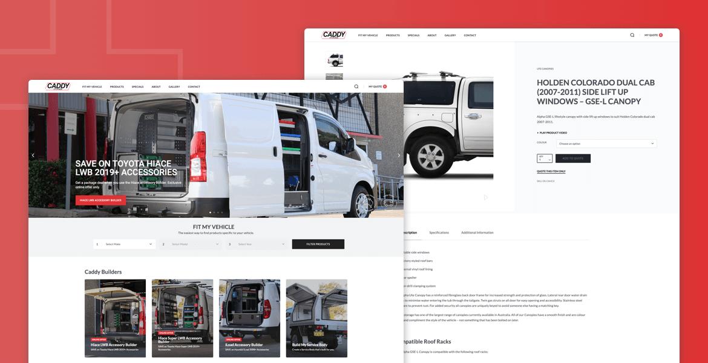 caddy-storage-website-design